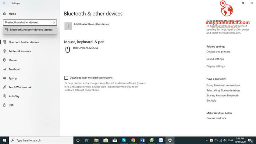Hướng dẫn kết nối chuột bluetooth với laptop