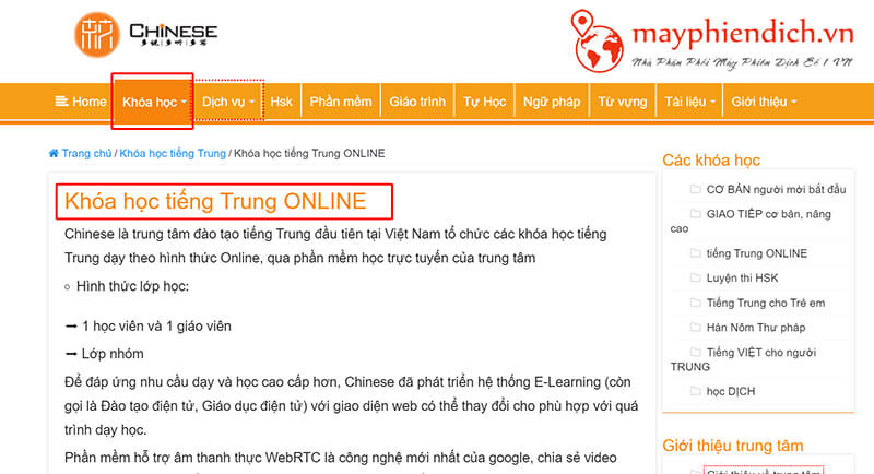 Hoc tieng trung online Chinese