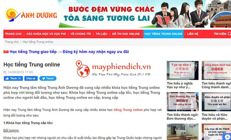 Học tiếng trung online Ánh Dương