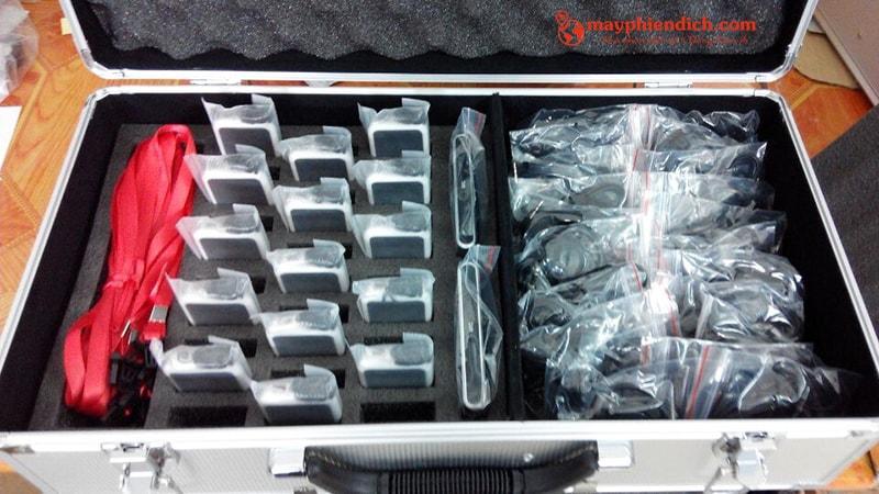 Khui hộp thiết bị phiên dịch hội nghị Anders