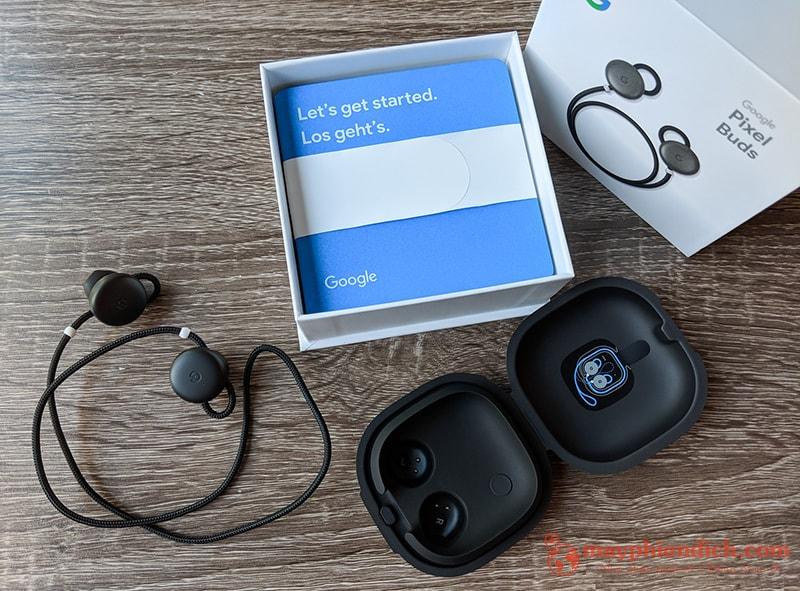 Trọn bộ của sản phẩm tai nghe Google Pixel Buds