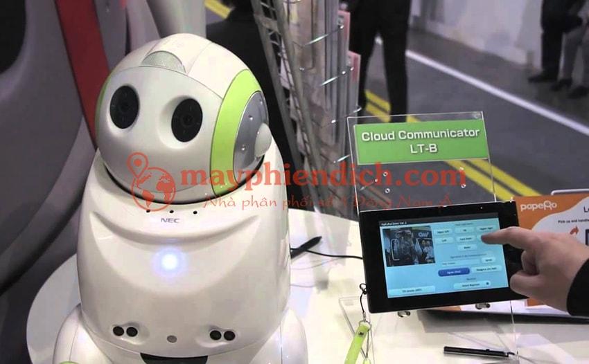 Robot Papero chỉ mới được trưng bày tại các triển lãm và sân bay ở Nhật