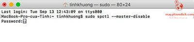 Nhập mật khẩu khi cài đặt phần mềm I-Tek
