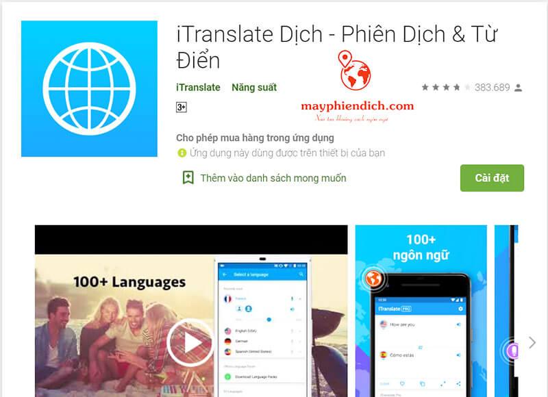 Dịch ngôn ngữ ITranslate Dịch