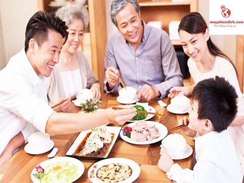 các món ăn gia đình tiếng trung