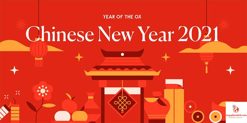 mẫu chúc tết năm mới tiếng trung