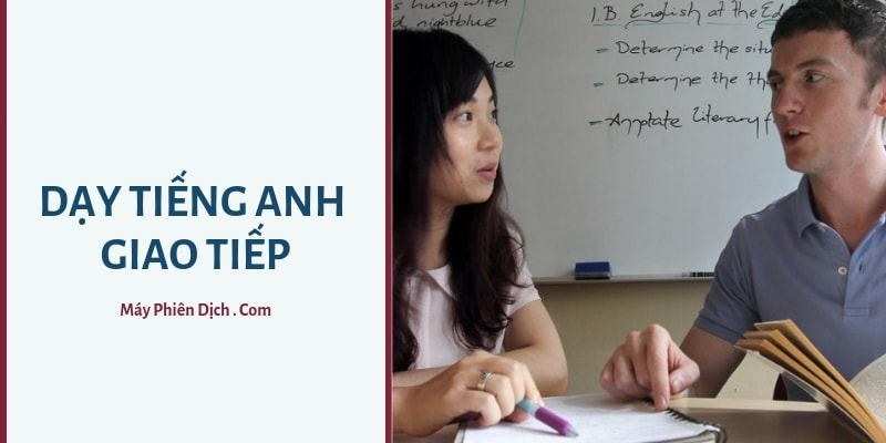 dạy tiếng anh giao tiếp