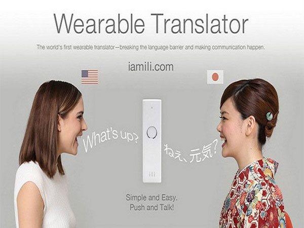 đi du lịch với máy thông dịch cầm tay