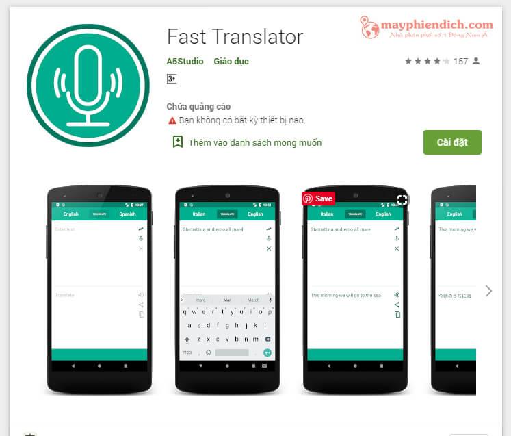 Fast Translator - Phần mềm dịch tiếng Anh sang tiếng Việt hiệu quả
