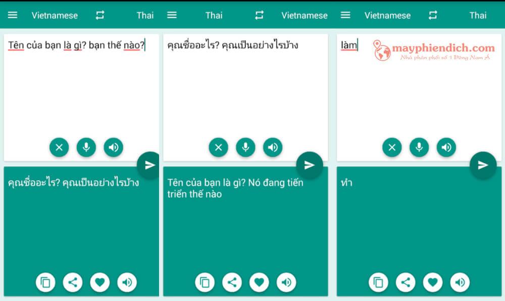 App Việt Thái Translator