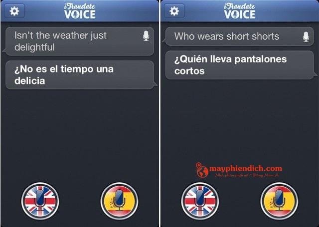 Phần mềm phiên dịch tiếng Anh iTranslate Voice